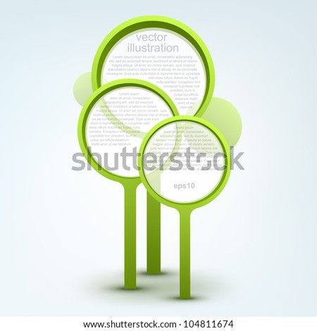 Card design with stylized trees, logo design - stock vector