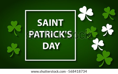Card for day of Saint Patrick