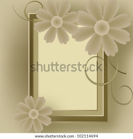 Card for greeting or invitation on the vintage background. - stock vector