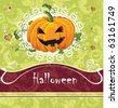Card for Halloween Congratulations with ornament and text. Vector framework for invitations. - stock vector