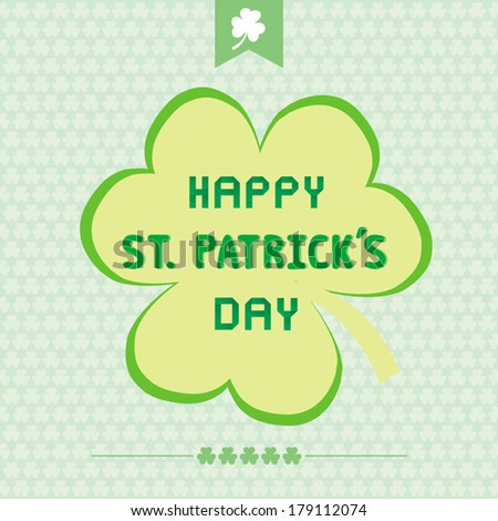 Card for Saint Patrick s Day. - stock vector
