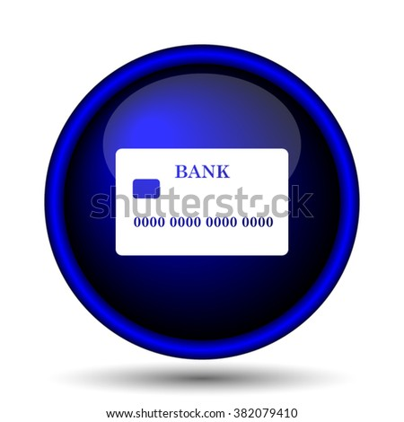 Card icon. Internet button on white background. EPS10 vector