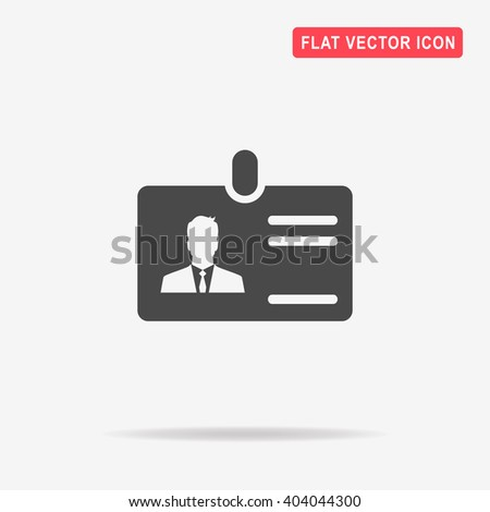 Card id icon. Vector concept illustration for design. - stock vector