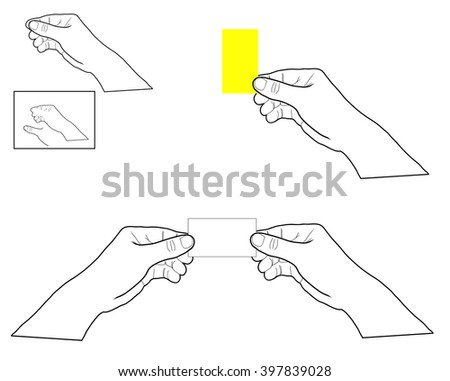 card in hand - stock vector