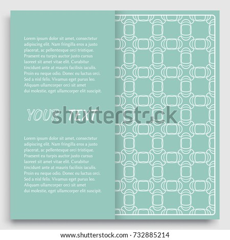 Arabic greeting card translation happy new stock vector 713335570 card invitation cover template design line art background abstract geometric pattern with stopboris Gallery