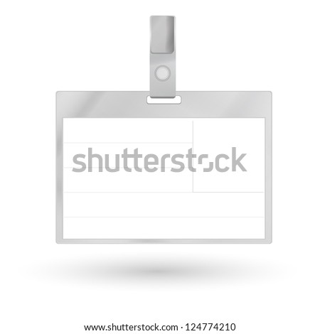 Card Name or Id Holder isolated on white - stock vector