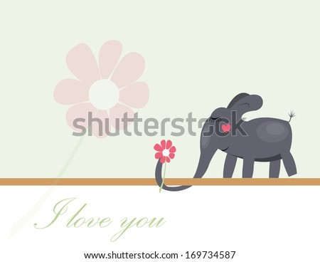 Elephant Valentines Images RoyaltyFree Images Vectors – Elephant Valentines Card
