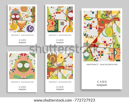 Card invitation vector abstract geometric background stock vector card or invitation vector abstract geometric background set art template design for cover stopboris Choice Image