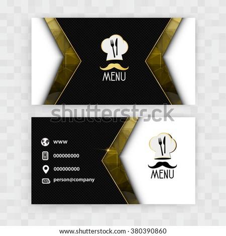 Card Presentation Corporate identity Menu Restaurant - stock vector