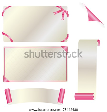 card set - stock vector