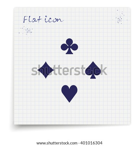 Card suit icon. - stock vector