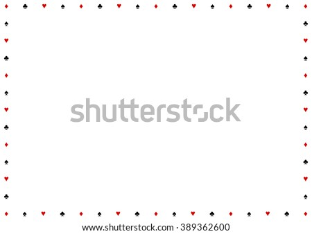 Card Suits Border Frame Vector Illustration - stock vector