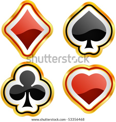 Card suits. Vector set. - stock vector