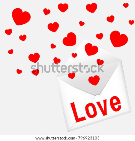 Card template valentines day hearts letter stock vector 796923103 card template for valentines day with hearts and letter illustration spiritdancerdesigns Images