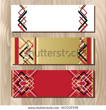 vector horizontal prize ribbons clipart vector design