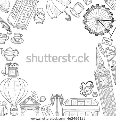 Card Template Welcome Great Britain Hand Stock Photo (Photo, Vector ...