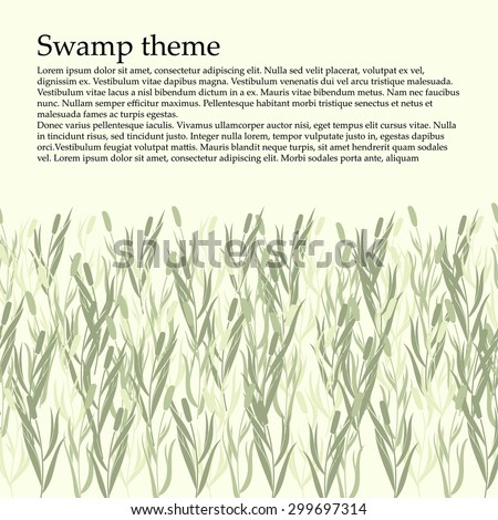 Card tracery handmade, reed. Can use the site for the footer. Marsh theme card.