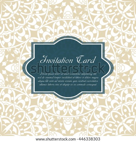 Card vector template for wedding. Invitations for thank you, save the date, mother day.