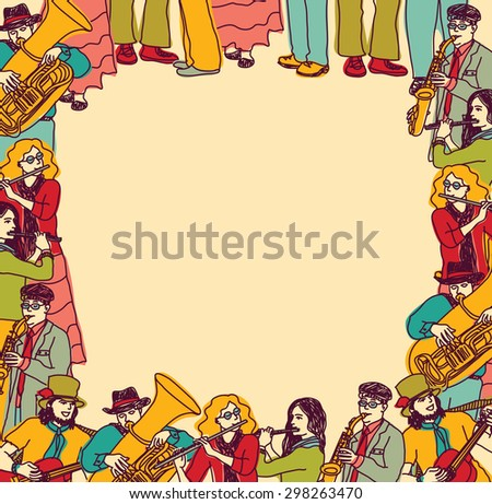 Card with empty place for text. Color vector illustration. - stock vector
