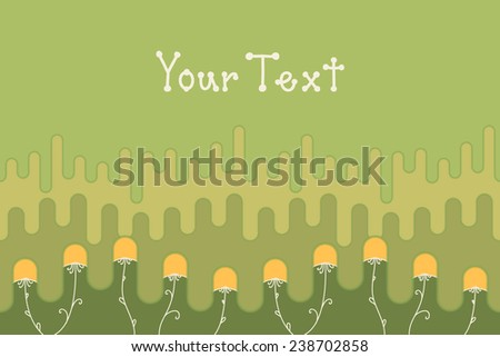 Card with geometric dandelions - stock vector