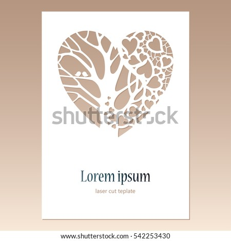 Laser Cut Tree Wedding Invitations is an amazing ideas you had to choose for invitation design