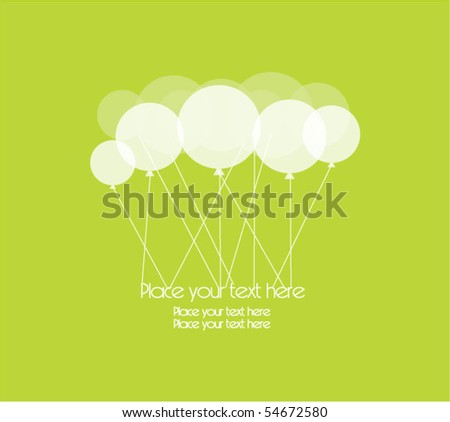 card with party balloons - stock vector