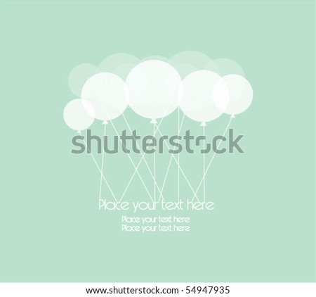 card with party balloons