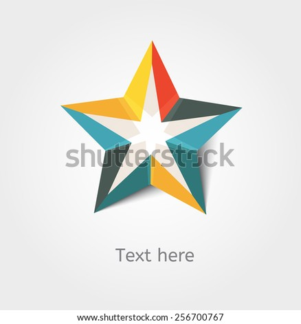 Card with star and place for text