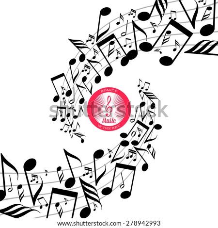 card swirls messy scattered music notes stock vector 278942993 rh shutterstock com Wind Swirls Clip Art Wind Swirls Clip Art