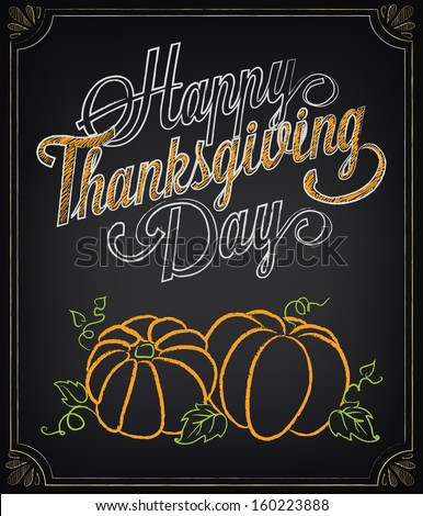 Card with vintage elements. Thanksgiving day - stock vector