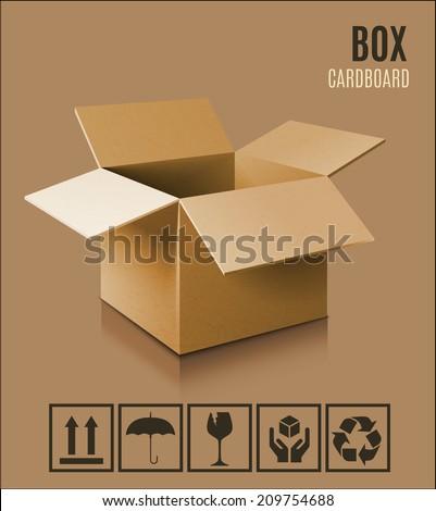 Cardboard box icon. - stock vector