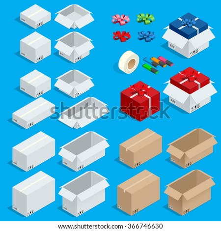 Cardboard boxes vector, Cardboard boxes 3d, Cardboard boxes picture, Cardboard boxes flat, Cardboard boxes on wooden shipping pallets Cardboard boxes Cardboard boxes icon art, Cardboard boxes sometric - stock vector