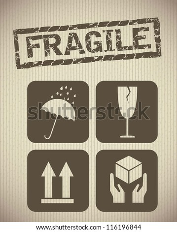 cardboard icons background, vintage style. vector illustration - stock vector