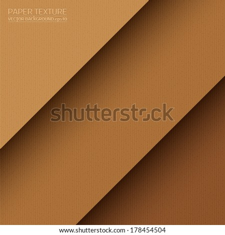 Cardboard paper vector texture. Paper background. Brown background. Business background. Retro background. Vintage background. Abstract background - stock vector