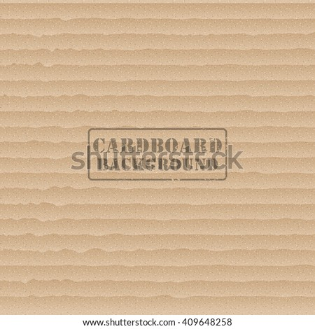 Cardboard texture background with post stamp. Vector illustration - stock vector
