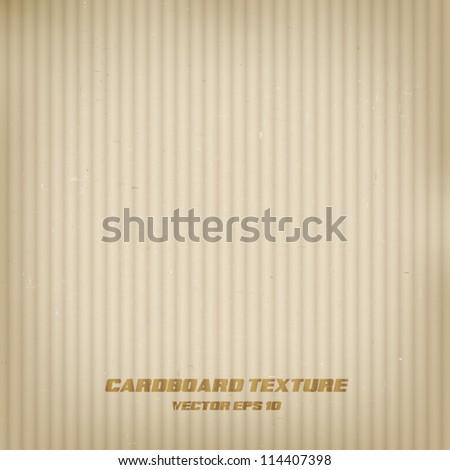 Cardboard texture. Vector - stock vector