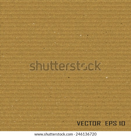 Cardboard texture.Vector illustration - stock vector