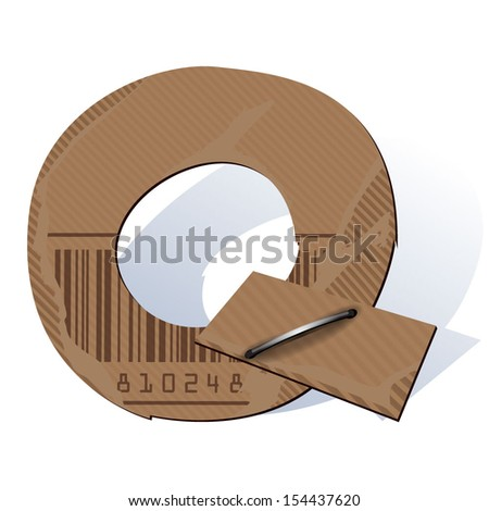 Cardboard vector abc - stock vector