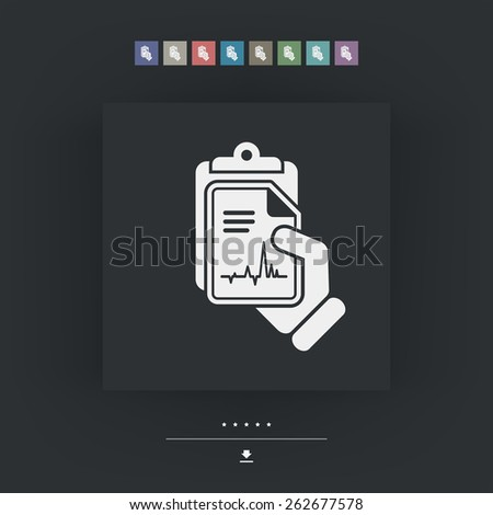 Cardiac examination - stock vector