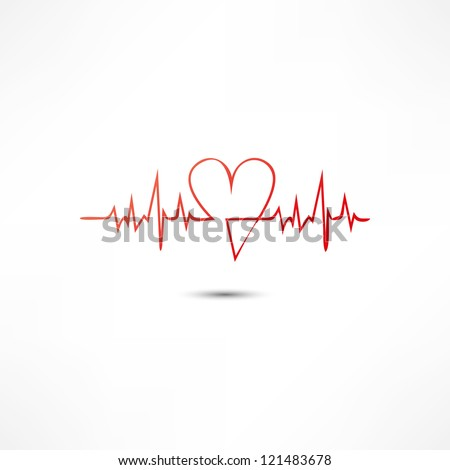 Cardiogram Icon - stock vector