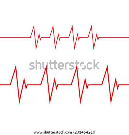 Cardiogram on white background - stock vector