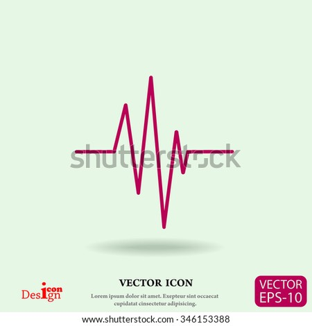 cardiogram vector icon - stock vector