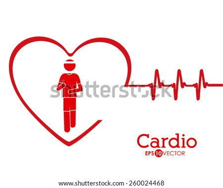 Cardiology design, vector illustration - stock vector