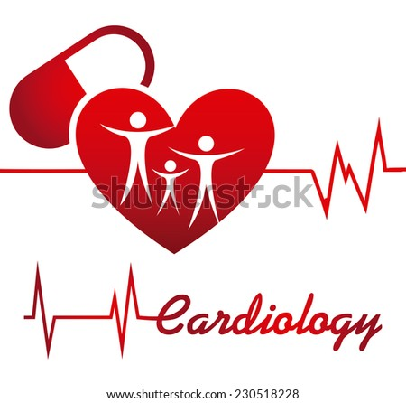cardiology graphic design , vector illustration