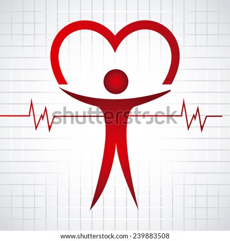 cardiology icon - stock vector
