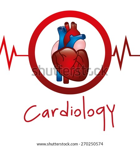 cardiology icon design, vector illustration eps10 graphic  - stock vector