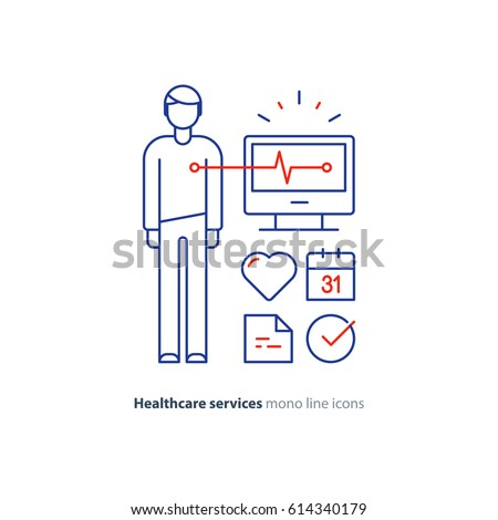Cardiovascular disease prevention test heart diagnostic stock vector cardiovascular disease prevention test heart diagnostic electrocardiography logo medical monitor screen undergo ccuart Choice Image