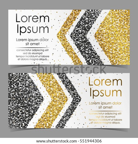 Cards arrows gold black silver confetti stock vector 551944306 cards with arrows from gold black silver confetti sparkles glitter and space for stopboris