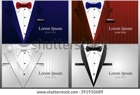 Cards Black White Tuxedo Different Tuxedo Stock Vector 391910689