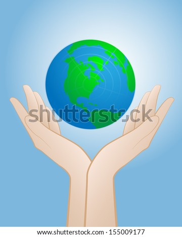 Care earth by our hand
